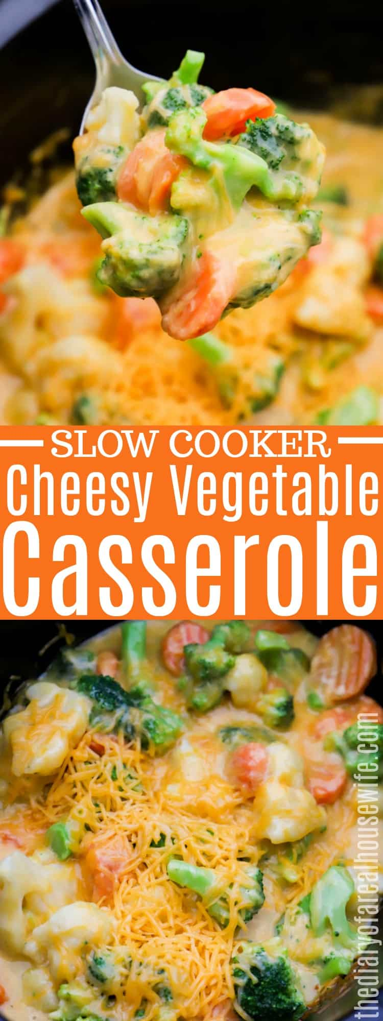 Slow Cooker Cheesy Vegetable Casserole