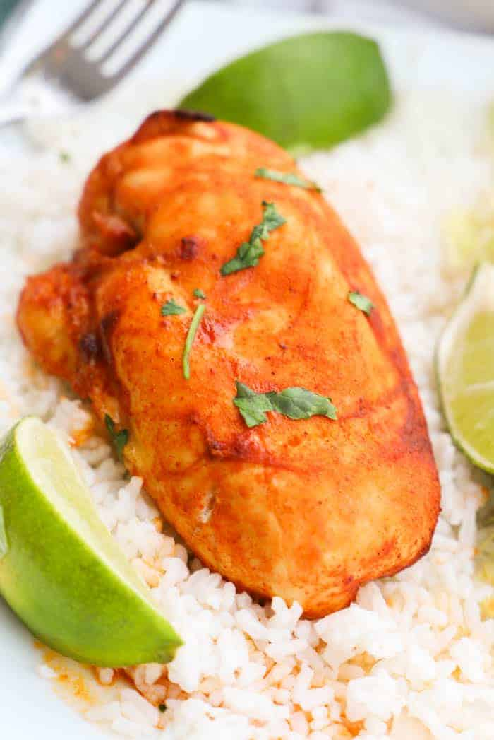 Baked Taco Lime Chicken Breast