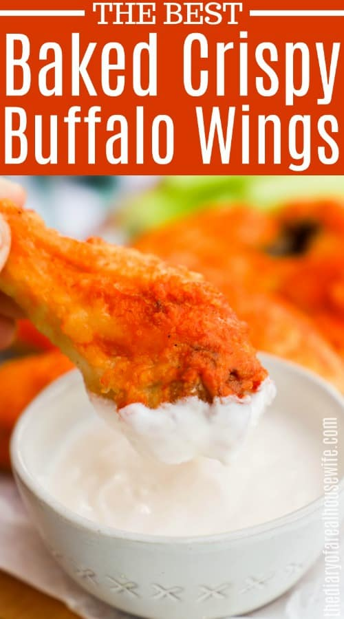 Baked Crispy Buffalo Wings