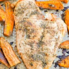One Pan Chicken and Sweet Potato Bake