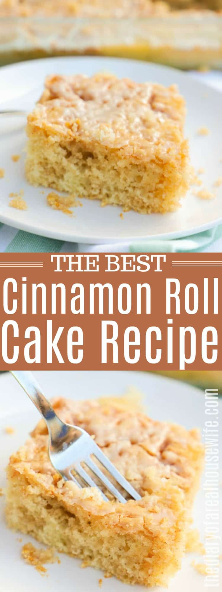 Cinnamon Roll Cake on Plates