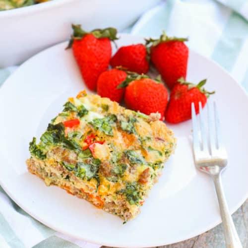 Make Ahead Low Carb Breakfast Casserole