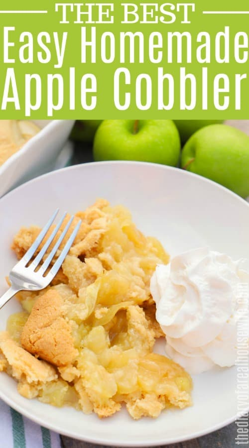 Apple Cobbler with text on picture