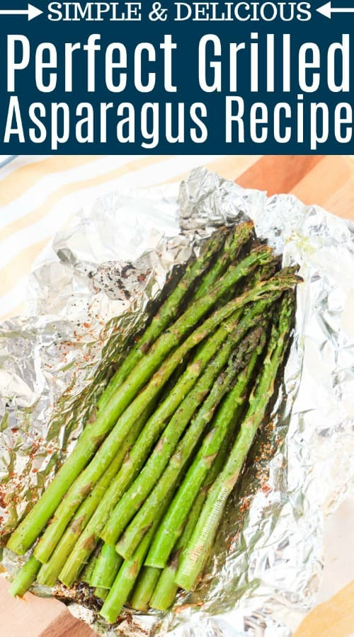 Grilled Asparagus with title text