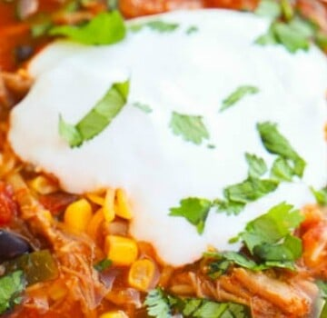 Pulled Pork Taco Soup
