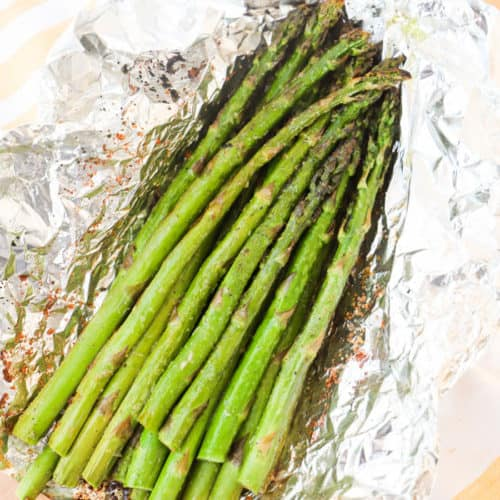 Grilled Asparagus in a foil packet