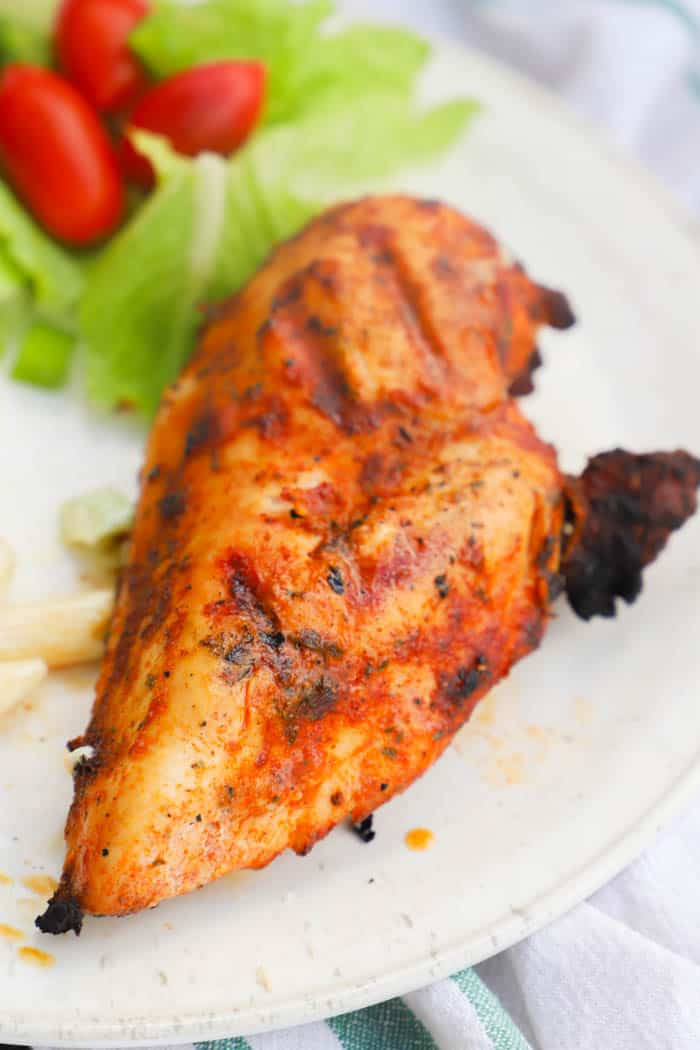 Grilled Brown Sugar Chicken on a white plate