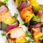 Close up photo of Hawaiian Chicken Kabobs
