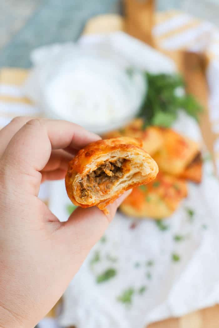 Taco Roll-Ups with a bite