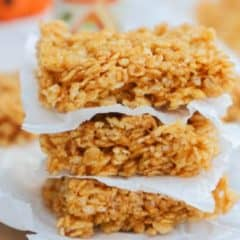 Pumpkin Spice Rice Krispies Treats