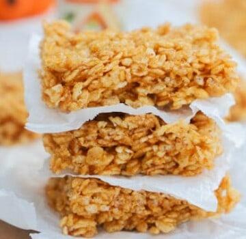 Pumpkin Spice Rice Krispies Treats
