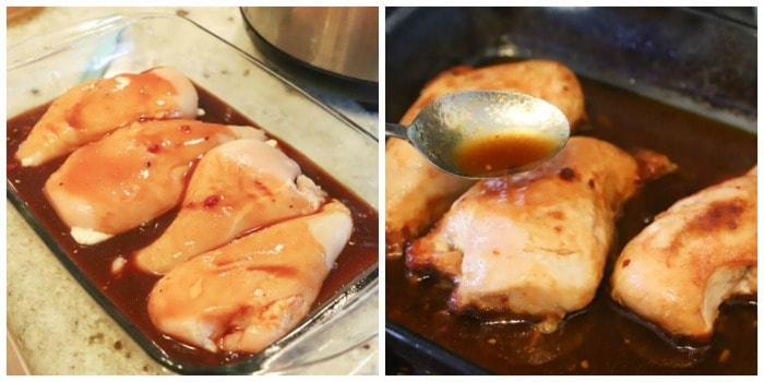 sauce on top of chicken for Honey Soy Chicken