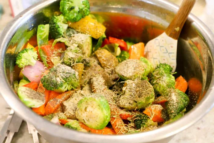 Roasted Vegetables with seasoning