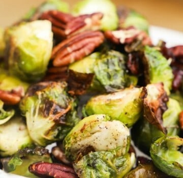 Cranberry Pecan Roasted Brussel Sprouts