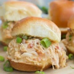 Slow Cooker Chicken Bacon Ranch Sliders