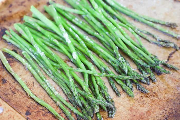 roasted asparagus with salt