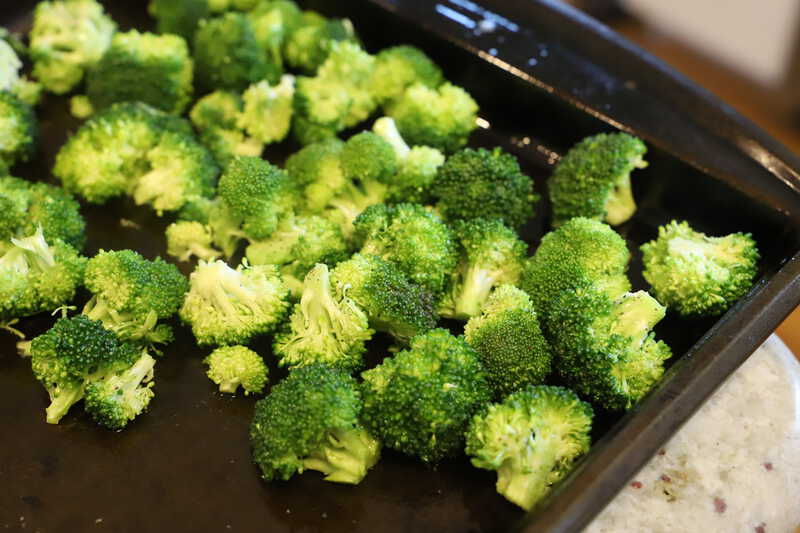 Parmesan Roasted Broccoli uncooked