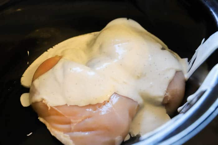 chicken and ranch in the slow cooker