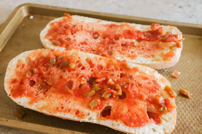 French bread with salsa