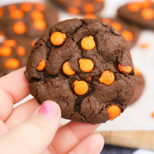 Halloween Cookie in a hand