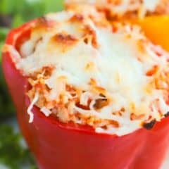 Ground Turkey and Rice Stuffed Peppers