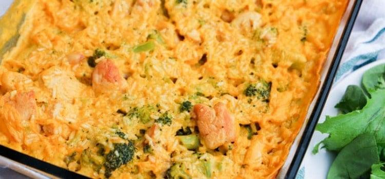 Cheesy Broccoli Chicken and Rice Casserole