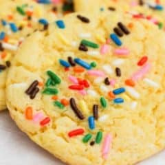 Yellow Cake Batter Cookies feature