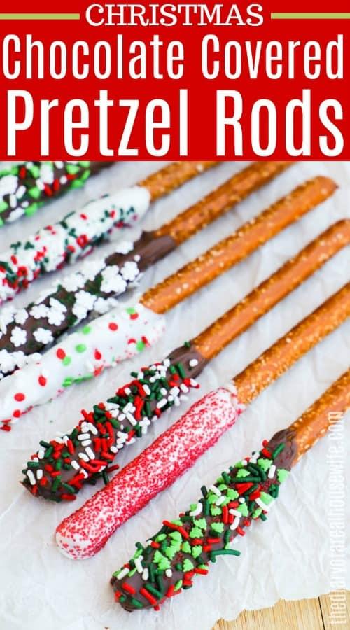 Chocolate Covered Pretzel Rods Recipe