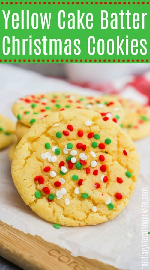 Yellow Cake Batter Christmas Cookies