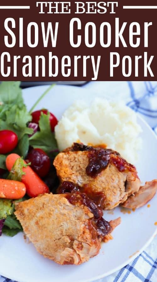 Slow Cooker Cranberry Pork Loin