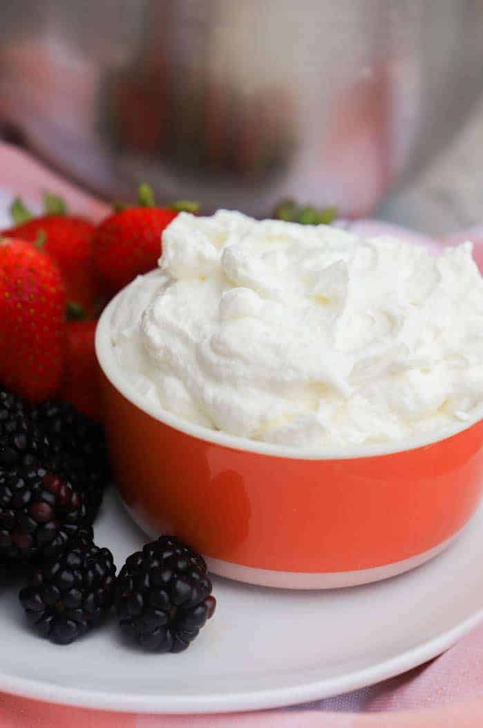 Homemade Whipped Cream in a bowl