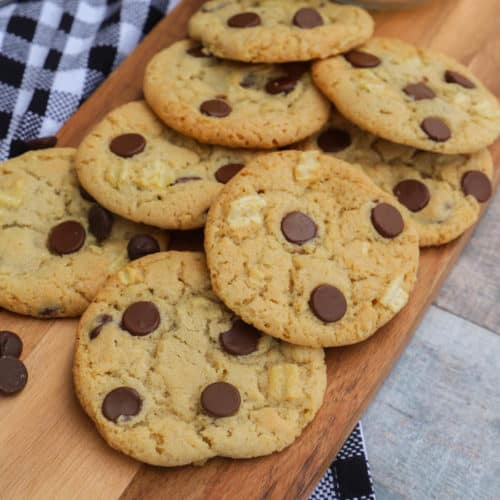 Sweet and Salty Cookies on a cutting board