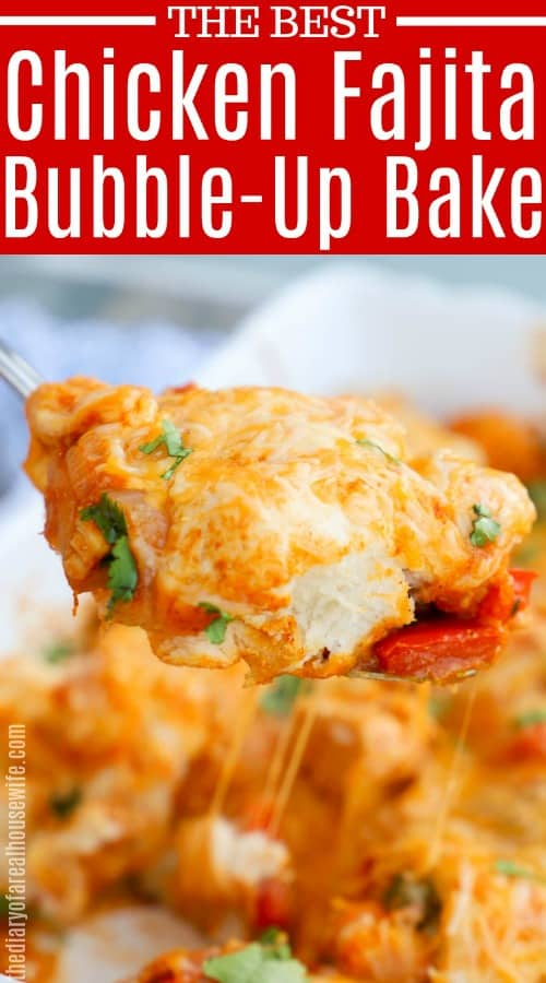 Chicken Fajita Bubble Up Bake