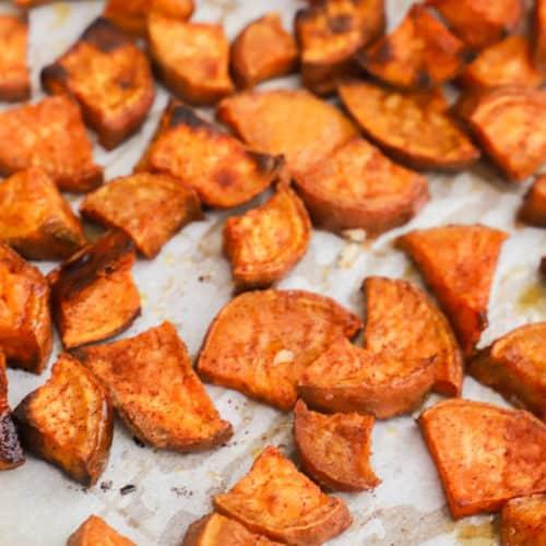 Cinnamon Sugar Roasted Sweet Potatoes