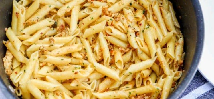 5 Ingredient Parmesan Garlic Penne