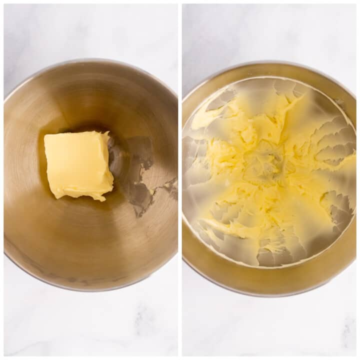 blending and smoothing your butter and sugar