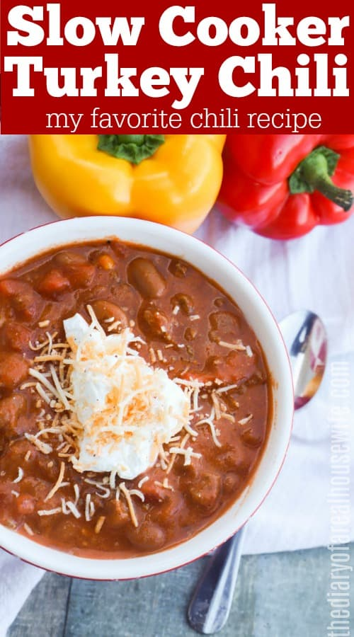 Slow Cooker Turkey Chili Recipe
