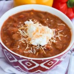 Slow Cooker Turkey Chili featured picture