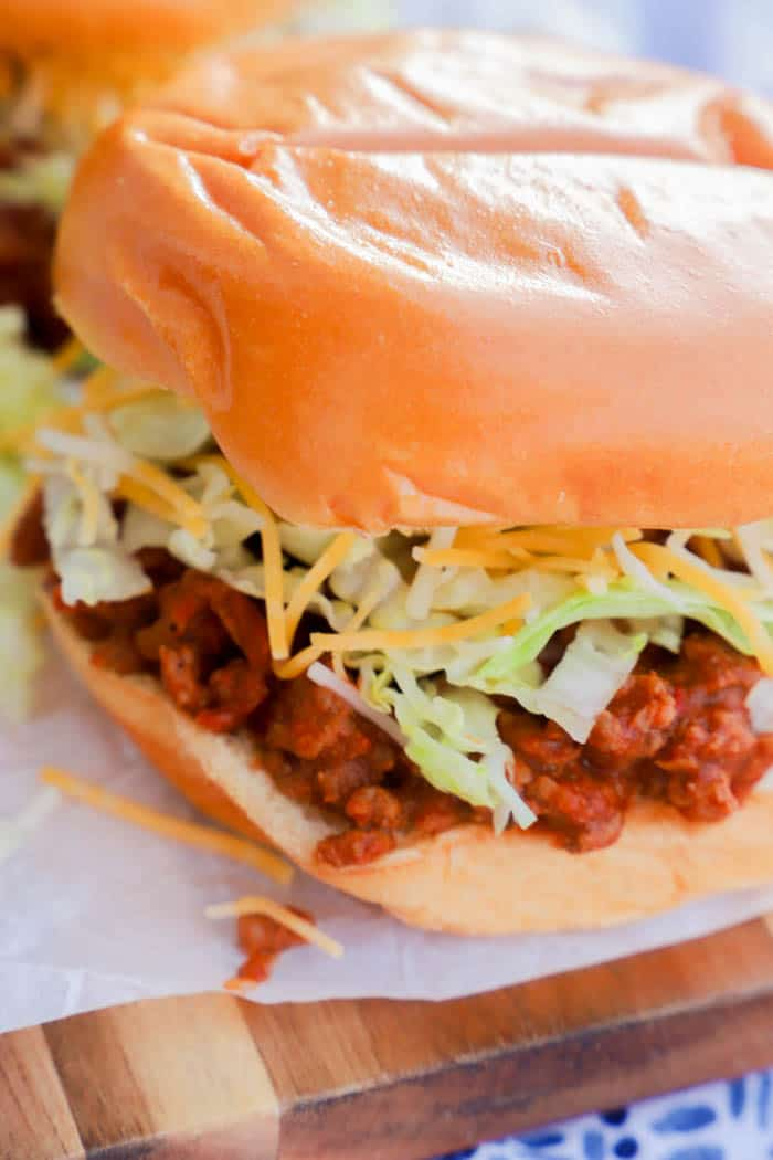 close up picture of Taco Sloppy Joes