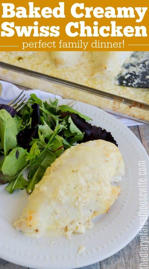 Baked Creamy Swiss Chicken Dinner Recipe