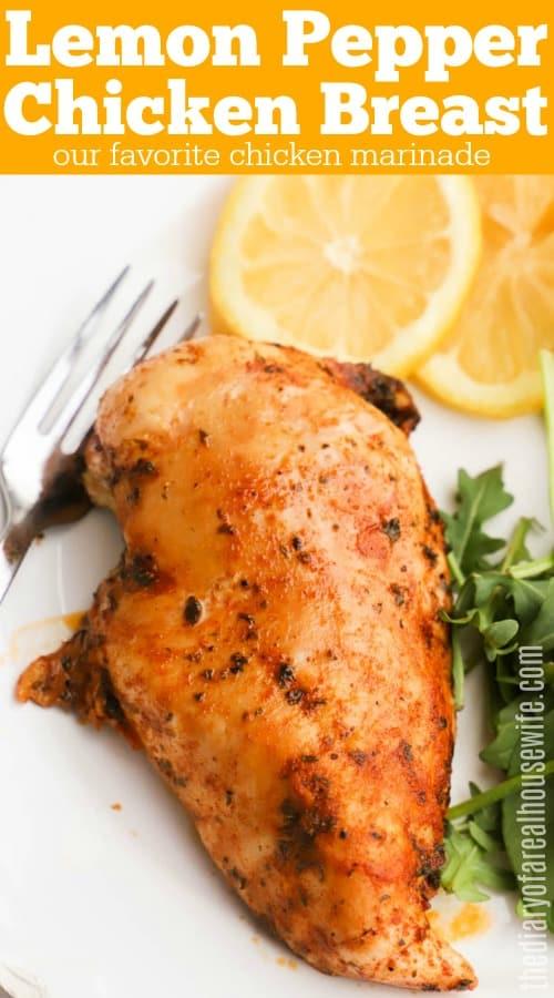 Lemon Pepper Baked Chicken Breast