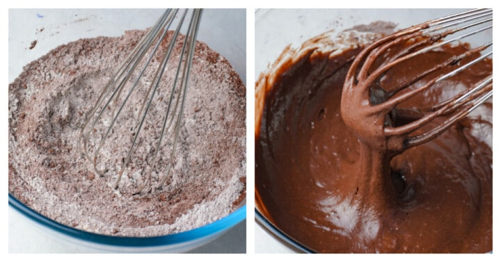 mixing chocolate