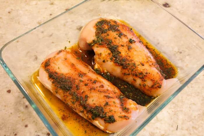 chicken marinade princess shot chicken in casserole dish