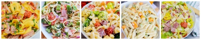 Pasta Salad Recipe Collage 2