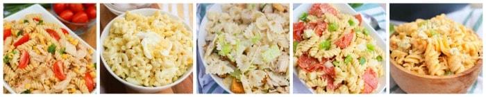 Pasta Salad Recipe Collage 1