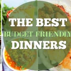 Budget Dinner Recipes featured image collage