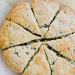 whole Chocolate Chip Scones baked
