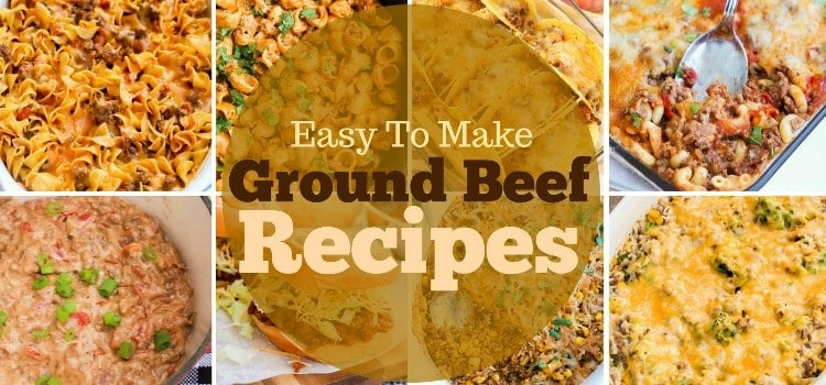 Ground Beef Recipes featured picture collage