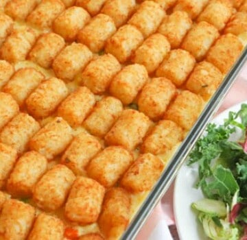 featured image Tater Tot Chicken Pot Pie