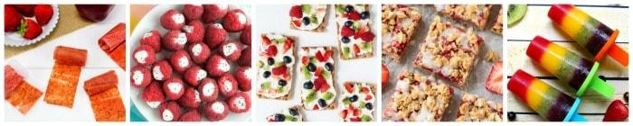 Healthy Kid's Snack Recipe Ideas collage 3